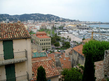 Town of Cannes near Nice France
