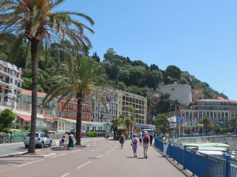 Colline du Chateau in Nice France (Castle Hill)