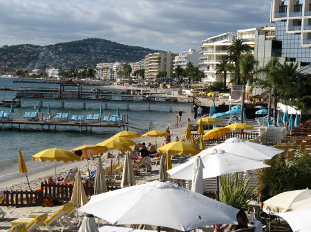 Juan les Pins - Beach resort to the west of Nice France