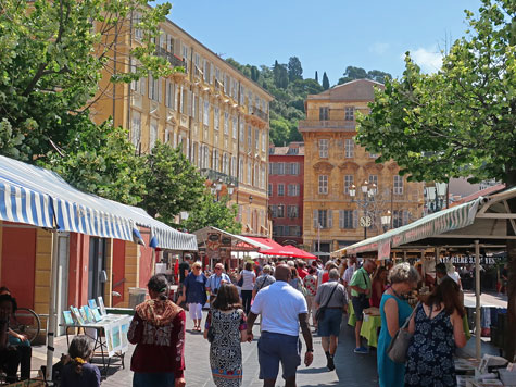 Outdoor Market in Nice France