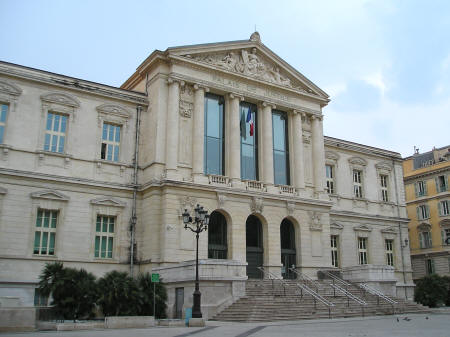 Palais de Justice in Nice France (Law Courts)