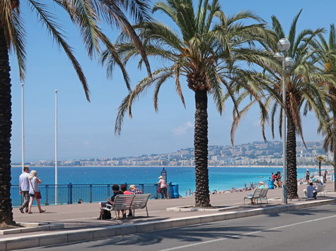 Promenade des Anglais in Nice France