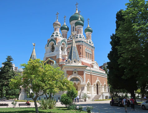 Russian Cathedral in Nice France